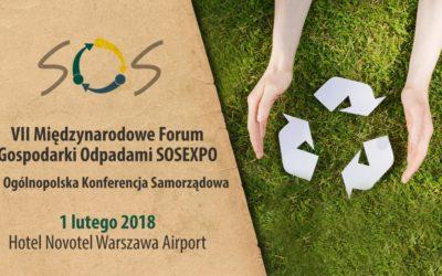 VII Międzynarodowe Forum Gospodarki Odpadami SOSEXPO 2018